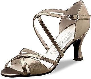 Werner Kern - Mujeres Zapatos de Baile/Zapatos de Novia July - Satén Blanco - 6,5 cm