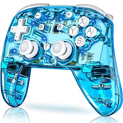 Wireless Switch Controller for Switch/Switch Lite, Replace for Pro Switch Controller, BEBONCOOL Switch Remote Wireless Gamepads with LED Backlight, Turbo, Vibration, Motion Functions