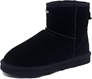 K.SIGNATURE Women's Erin Black Australian Sheepskin Boot 8 M US