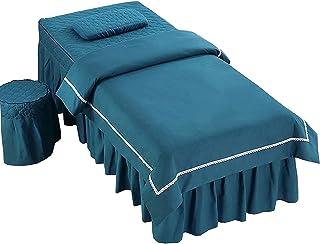 Chilechuan Spa-behandeling schoonheidssalon massagetafel bed rok, massagetafel cover schoonheidssalon sprei 4-delig licht ...