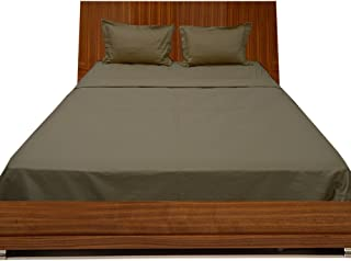 Relaxare Full 300TC 100% Egyptian Cotton Taupe Solid 4PCs Sheet Set Solid (Pocket Size: 28 inches)