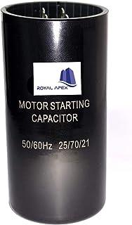 Royal Apex High Quality 2 Pin Cylinder Shaped Motor Starting Capacitor Black (216-259 MFD (216-259µF))