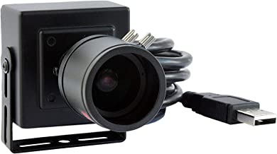 2.8-12mm Varifocal Lens USB Camera High fps Full HD 1080p Web Camera with CMOS OV2710 Image Sensor,640X480@100fps USB2.0 Webcam Manual Zoom&Focus USB with Camera UVC for Use in Linux Windows Android