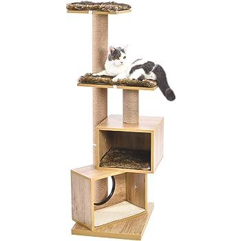 PAWZ Road キャットタワー 木製 猫タワー 家具 木目調 木製 インテリア 欧米 和室 兼用 物置 本棚 お洒落