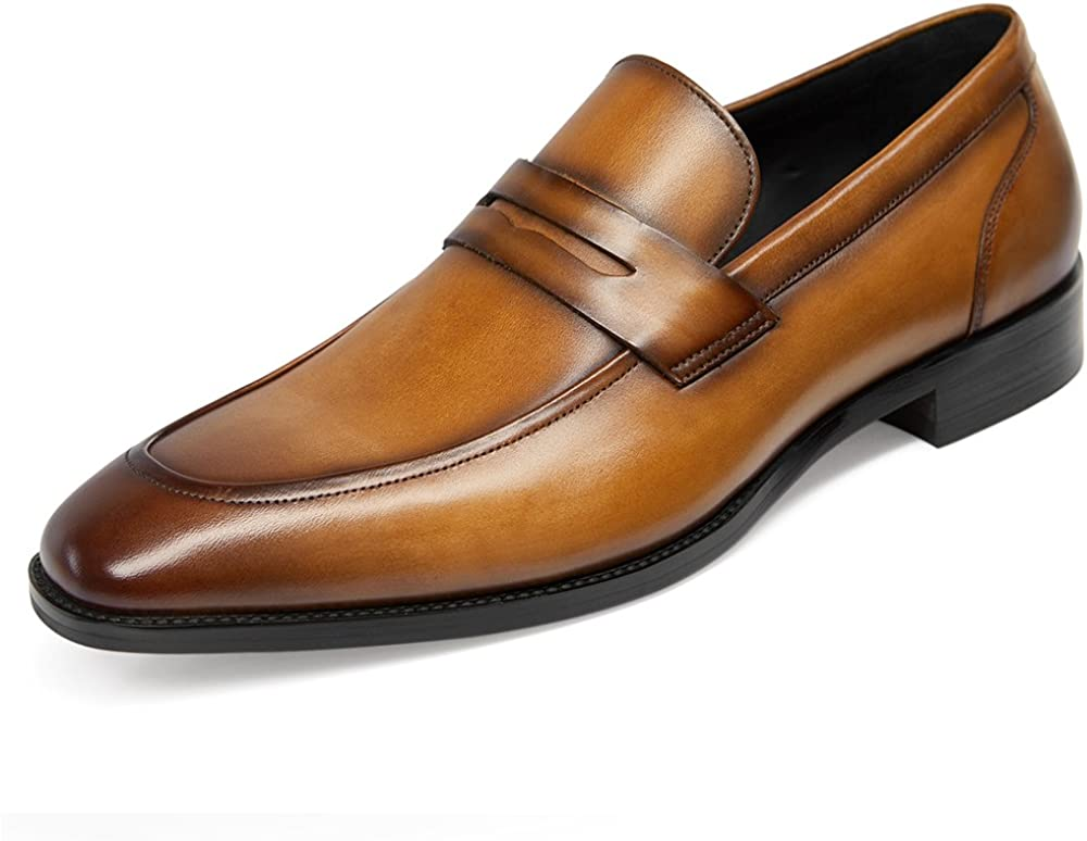 GIFENNSE Men's Dress Super-cheap Shoes Loafers Slip-On Formal Max 86% OFF Leather