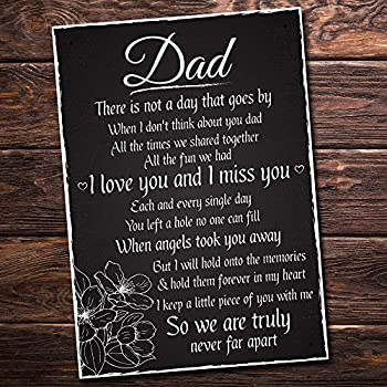 XLD Store Love and Miss You Dad Memorial Grave Plaque Daddy Gift Bereavement Sign