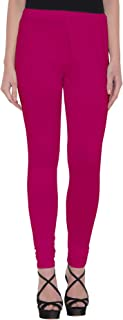 American-Elm Women's Hot Pink Churidar Length Cotton Legging