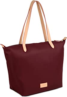 Pocket Essential Large Tote Water-resistant Nylon, Port (Deep Red)