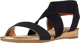 صندل نسائي بكعب من Bandolino Footwear ، أسود، 5. 5 M
