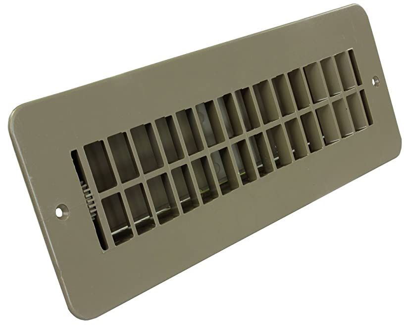 JR Products 288-86-AB-TN-A Tan Dampered Floor Register