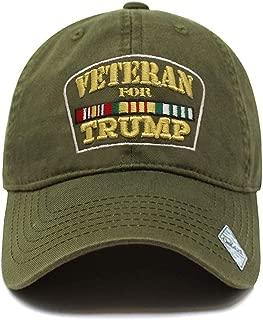 Veterans for Trump Dad Hat | Cotton Baseball Cap | Snapback Flat Visor | 7 Colors