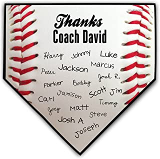 personalized baseball home plate