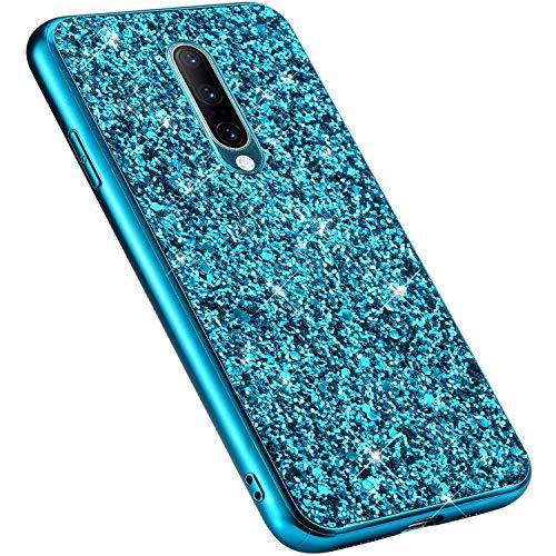 MoreChioce kompatibel mit OnePlus 7 Pro Hülle,OnePlus 7 Pro Handyhülle,Gold Chrom Glitzer Strass Silikon Bumper Schutzhülle Kratzfeste Durchsichtig Tasche Hybrid Protective Back Cover