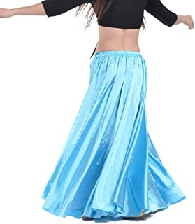 Circle Satin Polyester Belly Bollywood Halloween Dance Costumes Skirts