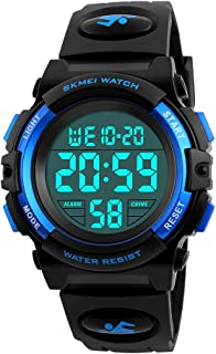 Boys Digital Sport Watch, Kids Outdoor Waterproof Electronic Watches with LED Alarm Stopwatch