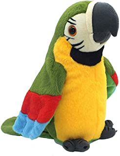 QDD Talking Parrot Repeats What You Say Mimicry Pet Toy Plush Buddy Parrot Children Gift (Green)