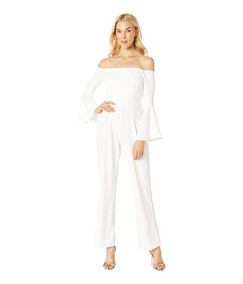 ALEXIA ADMOR Ruffle Sleeve Off The Shoulder Jumpsuit, White