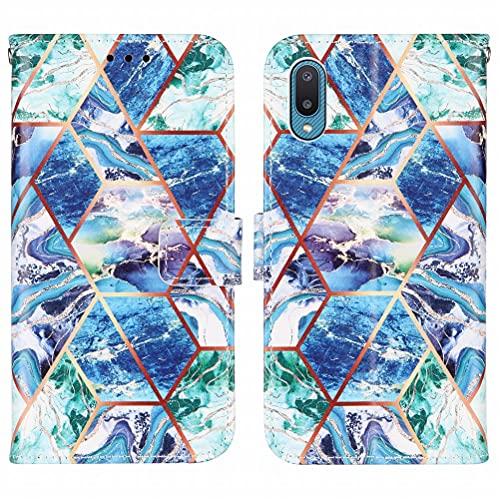 Yiizy Funda para Samsung Galaxy A02 M02 Carcasa Cuero Tapa Moda Piel Billetera con Ranura Tarjeta Soporte Cierre Magnético Silicona Suave Protector Carcasa Galaxy A02 M02, Mármol 4
