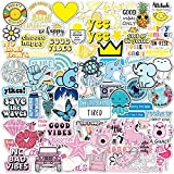100 Pack Multicolor Vsco Stickers I Cute Stickers Waterproof 100% Vinyl Stickers I Aesthetic Stickers I Laptop Stickers I Multicolor Stickers I Cute Stickers I Vinyl Stickers I Waterproof Stickers