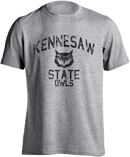 Kennesaw State Owls Retro Distressed Short Sleeve T-Shirt