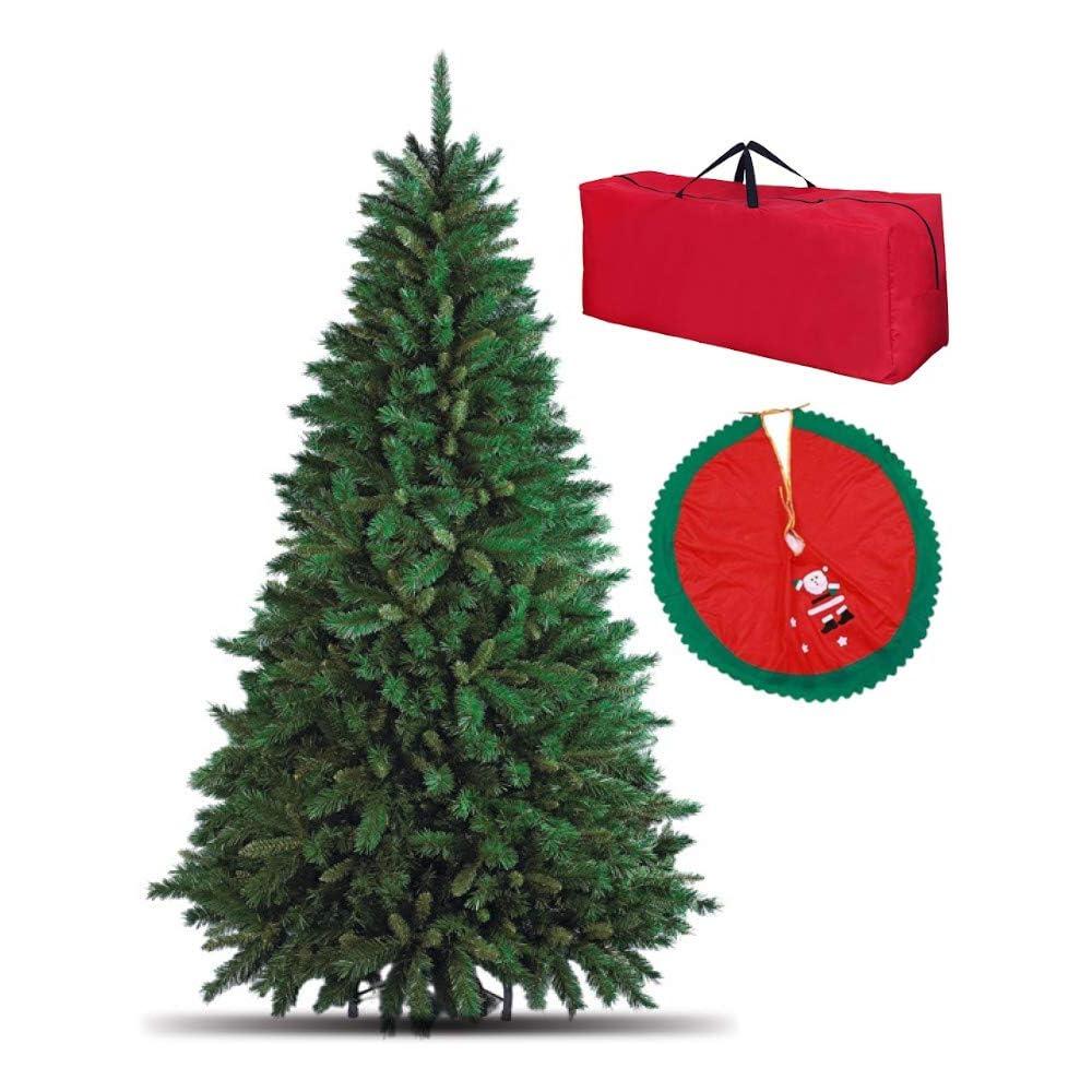 Totò piccinni albero di natale artificiale, 240 cm (1516 rami) borsone e copribase, effetto realistico