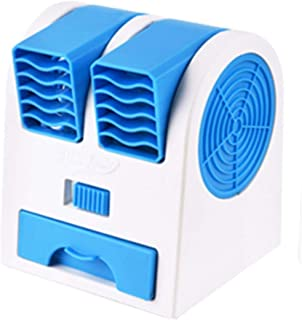 Molyflower Mini Aire Acondicionado portátil Artic Air Cooler LED Timer USB Personal Space Cooler Fan Dispositivo de enfriamiento de Aire del Ventilador - Azul
