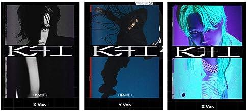 EXO Kai 1º mini álbum Kai (❄) versão do livro de fotos (capa aleatória) (incluindo conjunto de photocard transparente alea...