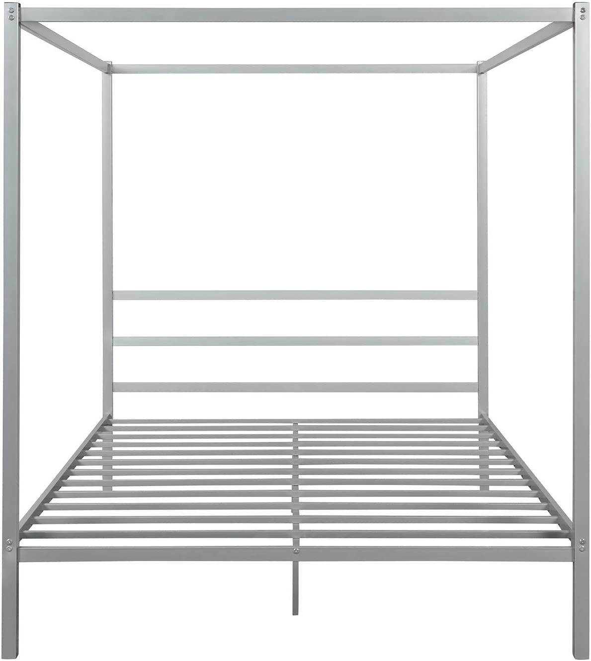 JIMAOD Metal Frame Canopy Recommendation Platform Built-in Headboard with Bed Save money