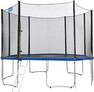 comprar comparacion Monzana Trampolín de 427 cm cama elástica negro y azul con red de seguridad y escalera juego deporte exterior jardín