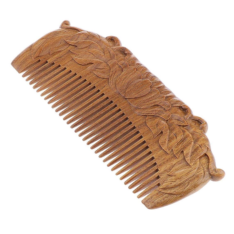 肯定的トリクル苦いP Prettyia 木製櫛 ヘアコーム ヘアブラシ 帯電防止櫛