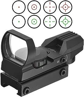 YODZ Visor de Punto Rojo Rojo Rifle Scope Reflex 4 Retículo 5 Configuración de Brillo Rifle Scope 11mm / 20mm Weaver/Picatinny Rail Mount y Tapa para Todos los rieles de 20mm