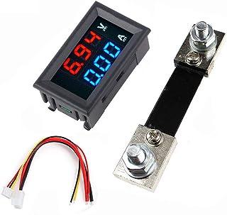 WINGONEER 0.56 inch Blue Red Dual LED Display Mini Digital Voltmeter Ammeter DC 100V 100A Panel Amp Voltage Current Meter Tester