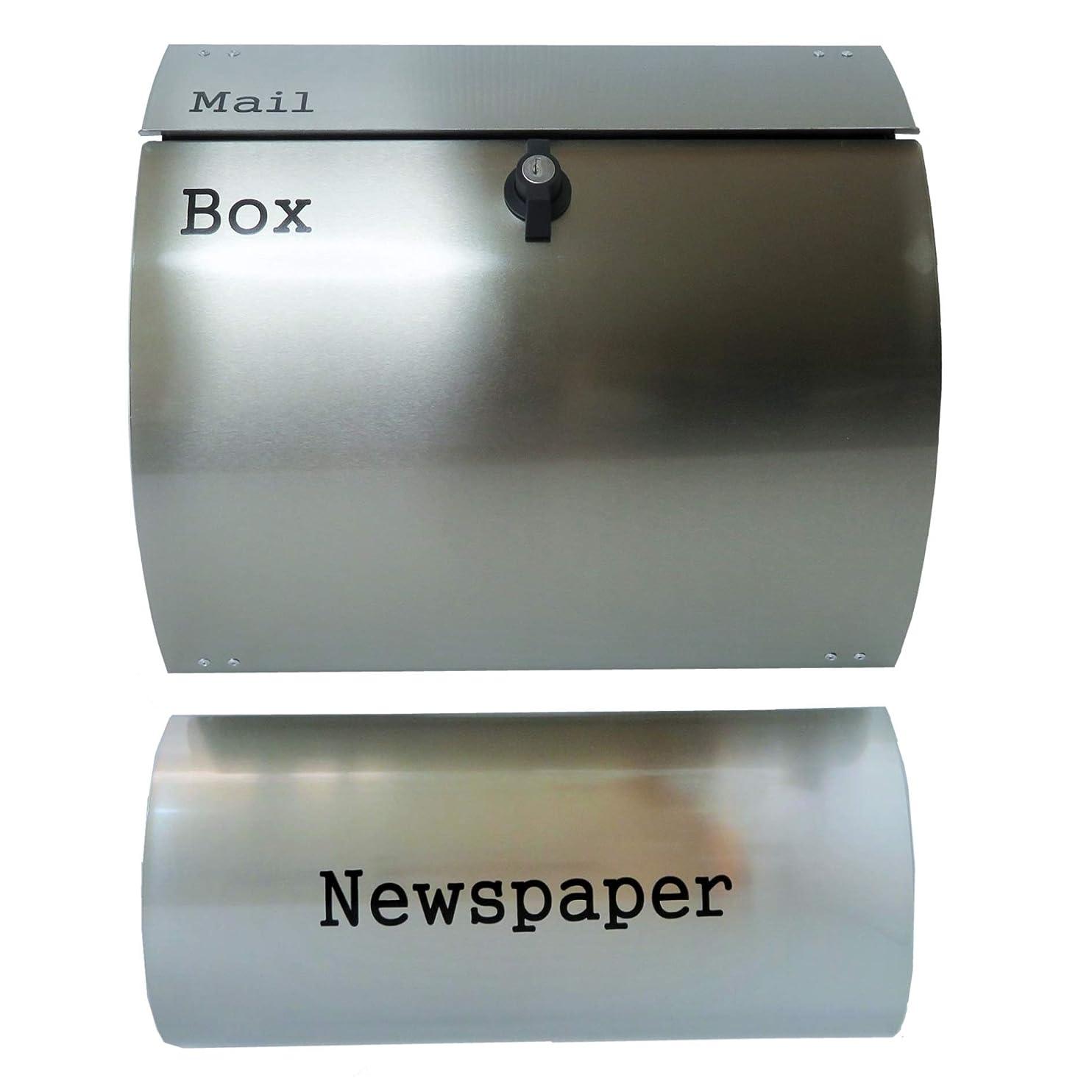 ひばり問題書き込み郵便ポスト郵便受けメールボックス壁掛けシルバーステンレス色プレミアムステンレスポストpm062