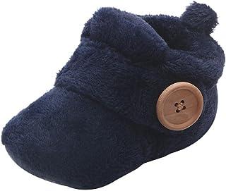 Invernali Caldi Carino Baby Toddler Antiscivolo Fondo Morbido Scarpe da Bambino Stivali di Lana Scarpe in Cotone Spesse Sc...