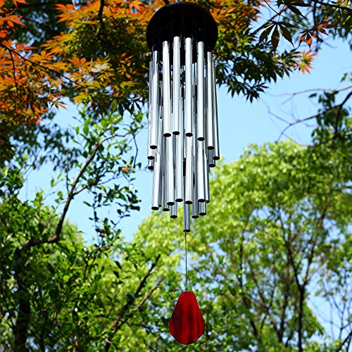RENOOK Memorial Wind Chimes for Outside  27 Tubes Handmade Wind Chimes Indoor Outdoor Soothing Melodic Tones Amazing Windows Yard Decor Mom#039s Best Gifts Patio Porch Garden Backyard
