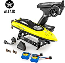 Altair AA Wave RC Remote Control Boat for Pools & Lakes, Beginner Safe CSP Child Safe Propeller System for Kids, Self Righting, Water Cooled, 2 Batteries, 24 km/h Speed, 2.4gHz, (Lincoln, NE Company)