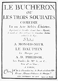 Francois Andre Philidor N(1726-1795) French Chess Player And Composer Title Page Of PhilidorS 8Th Opera Le Boucheron (The ...