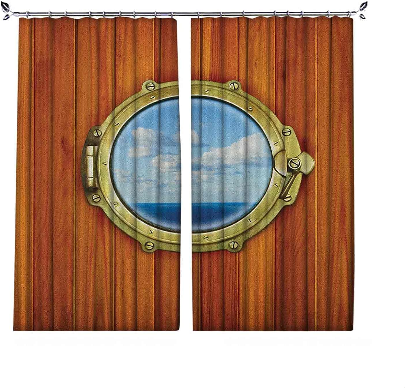 Max 74% OFF 90% Blackout l Curtains Porthole Wooden Window Sh Albuquerque Mall on Background