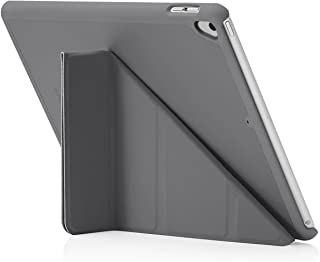 "Pipetto Origami iPad Case 9.7"" (2017/2018) 6th Generation & Air 1 with 5 in 1 Stand & auto Sleep/Wake Function Dark Grey"