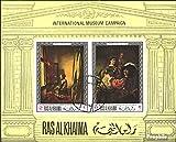 Prophila Collection Ras al Chaima Block43B (kompl.Ausg.) 1968 Bekannte Gemälde (Briefmarken für Sammler) Malerei