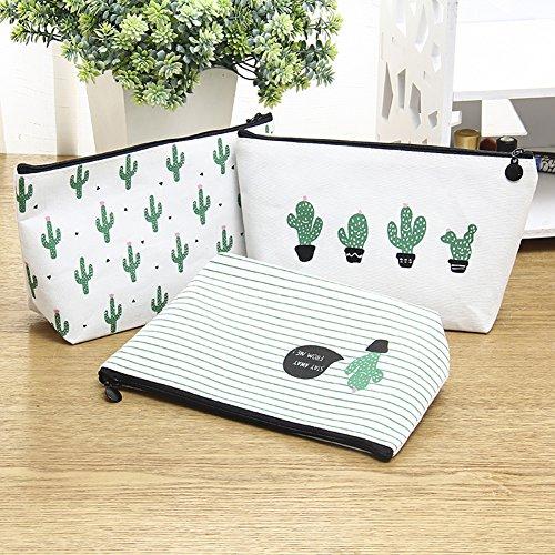 XdiseD9Xsmao Multifunctionele Cactus Patroon Make-up Tas Duurzame Lichtgewicht Toilettassen Reizen Huishoudelijke Cosmetische Tas Container voor Vrouwen Meisjes 2
