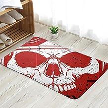 Skull T Shirt Graphic Design The Arts Art Miscellaneous Fun Welcome Doormat Personalized Indoor Floor Mats Living Room Bed...