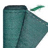 Relaxdays Zaunblende, Sichtschutz für Zaun & Balkongeländer, HDPE Gewebe, UV-stabilisiert, wetterfest, 1,8 x 25 m, grün