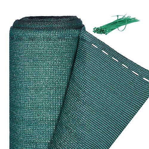Relaxdays Zaunblende, Sichtschutz für Zaun & Balkongeländer, HDPE Gewebe, UV-stabilisiert, wetterfest, 1,8 x 20 m, grün