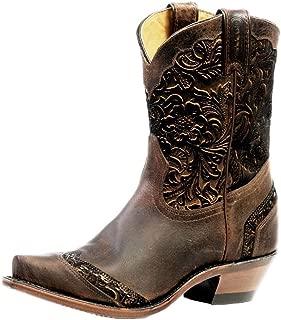 Boulet Women's Art Barocco Calf Split Cowgirl Boot Snip Toe
