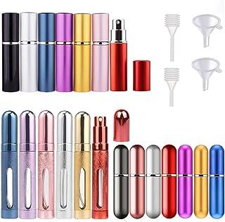 9 piezas 5 ml 10 ml 12 ml Atomizador de perfume recargable Botellas de pulverización portátiles Aftershave Emulsión de via...