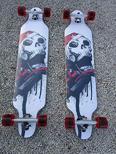 Lucino Longboard 2 Stück 41 Totenkopf .Longboard ABEC 11 43069-2