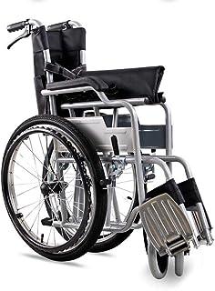 AOLI Transporte ligero Silla de ruedas 14 kg Transporte plegable Médico Cómodo Apoyabrazos Respaldo Asiento Columpio