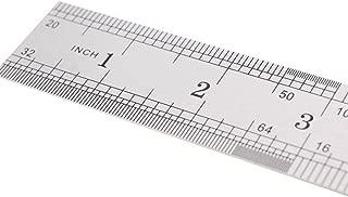 Home Mart Stainless Steel Ruler Measure Tool Metal Ruler Metric Function for Office Engineering 50CM
