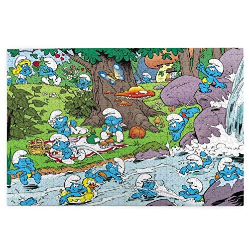 Die Schlümpfe 1000 Teile Puzzle für Erwachsene Kinder - The Toy Shop Puzzle 1000 Teile für Kinder Bildung Spielzeug Spiel Geschenk Puzzles